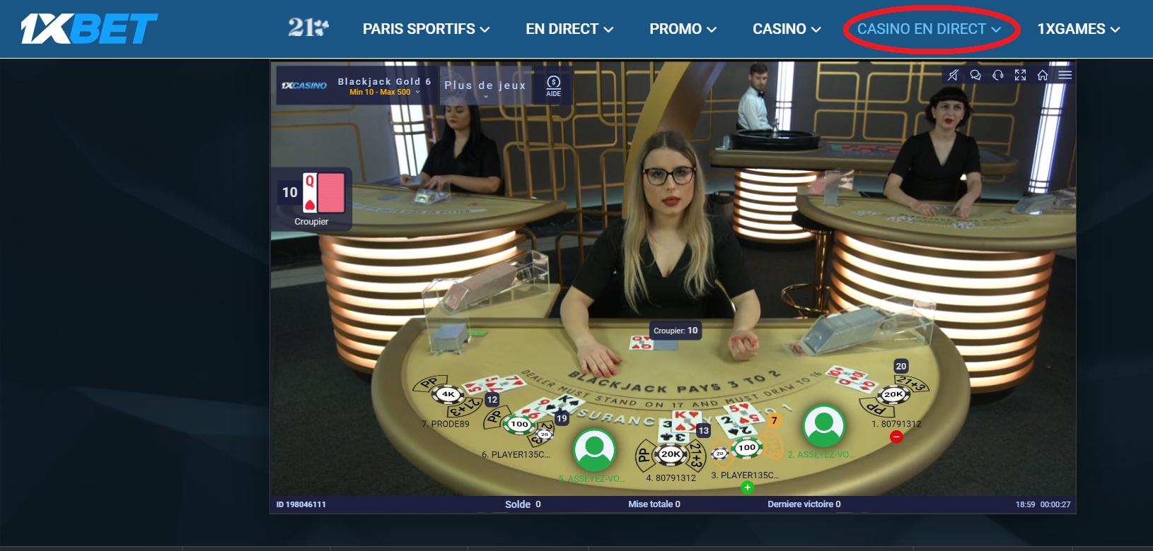 Jeux de Poker sur 1xBet